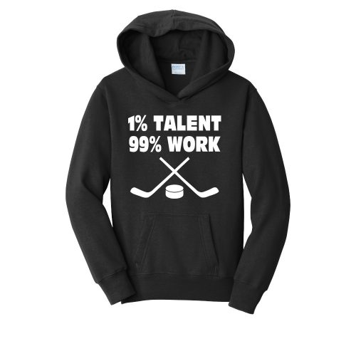 PC850YH Youth hockey hoodie hooded sweatshirt jet black