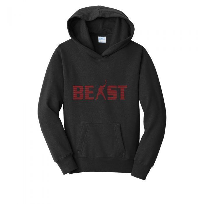 PC850YH youth hoodie hooded sweatshirt hockey jet black